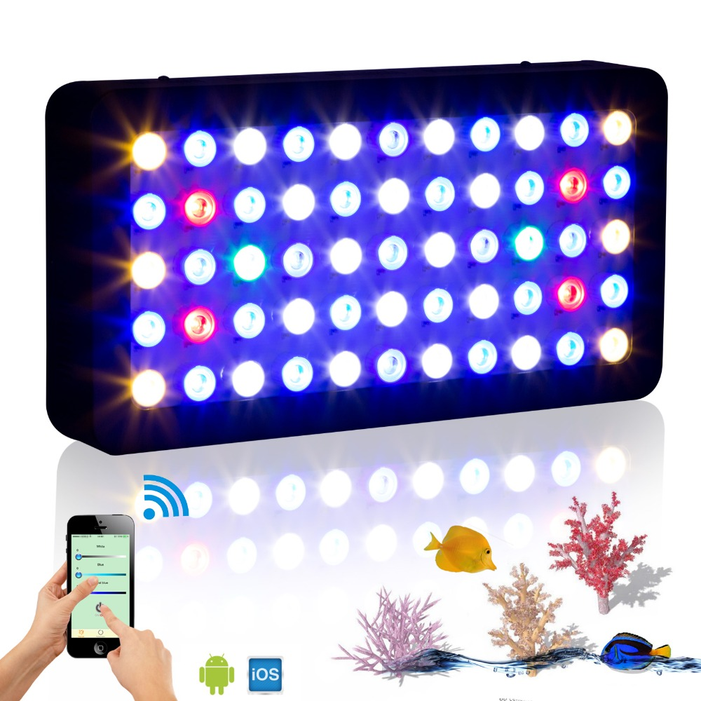 Wifi 165w Marine Aquarium Led Lighting Dimmable Full