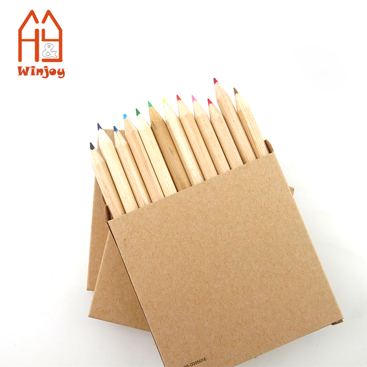 Упаковка из крафт-бумаги, 12 шт. стандартных цветовых карандашей