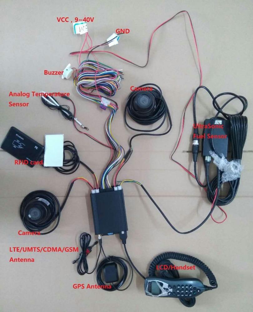 Многофункциональный GPS-трекер для транспортного средства, противоугонная система gps-слежения с поддержкой камеры, температуры. Датчик, светодиод