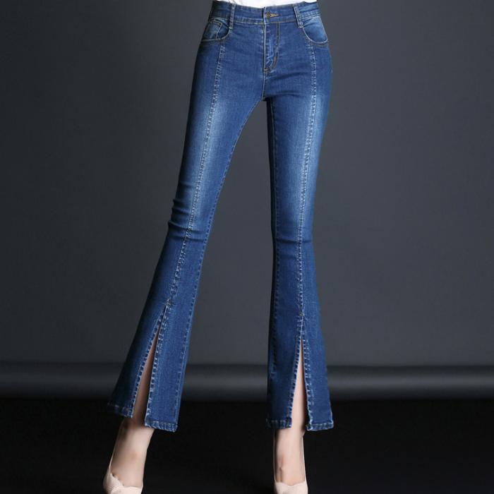 Mujeres Diseno Unico Split Jeans Moda Azul Denim Pantalones Ninas Elegante Llamarada Pantalones Buy Pantalones Vaqueros Para Mujer Los Ultimos Pantalones Vaqueros Slim De Moda Pantalones Elegantes Para Mujeres Product On Alibaba Com