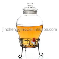 5l grand bocal en verre transparent avec robinet bouteilles bocaux de stockage id de produit. Black Bedroom Furniture Sets. Home Design Ideas