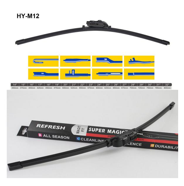 Online Automotive FWBFTDUC19D 9011 Pair of Front Aero//Flat Windscreen Wiper Blades