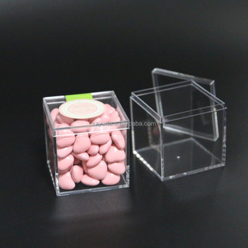 clear acrylic candy cube transparent injection plastic favor box
