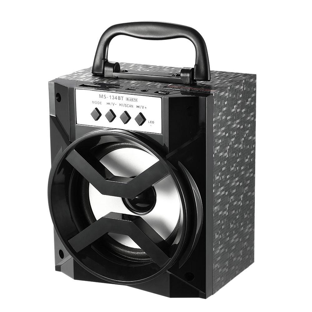 ms 134bt bluetooth speaker subwoofer wireless sound box fm radio loudspeaker usb wired. Black Bedroom Furniture Sets. Home Design Ideas