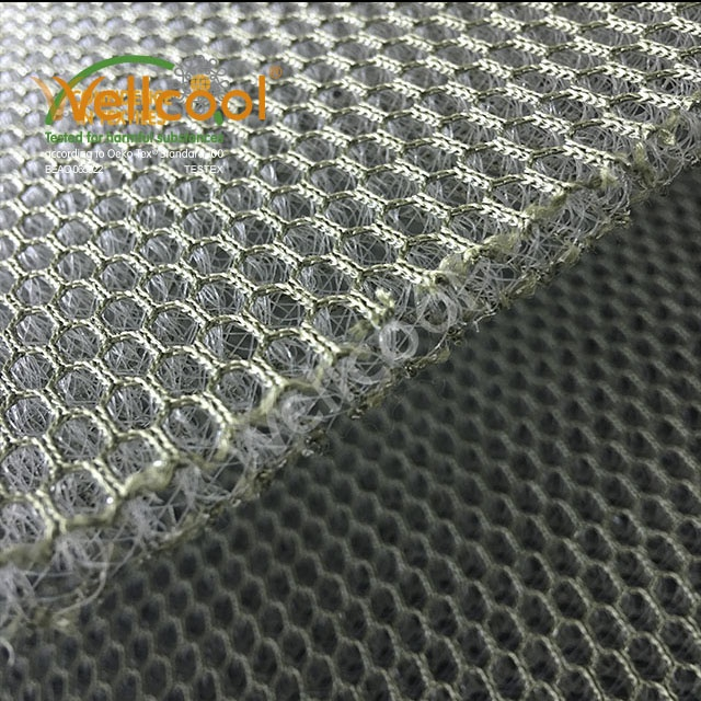 Free sample 6mm thickness air conditioning 3d breathable mesh fabric for body armour
