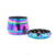 55mm Zinc Alloy Rainbow 4 Parts Smoking Herb Grinder Drum Type Tobacco Grinder Weed Grinder With Customized Logo