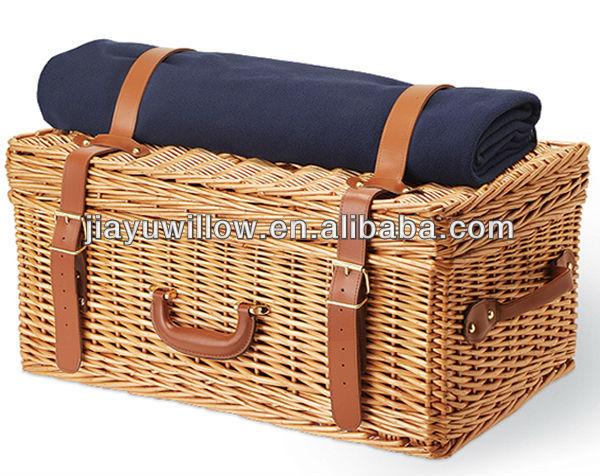 Натуральная плетеная корзина для пикника оптом
