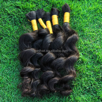 500g 8A original brazilian human hair Undye Hair No Weft Bulk Human Braiding Hair