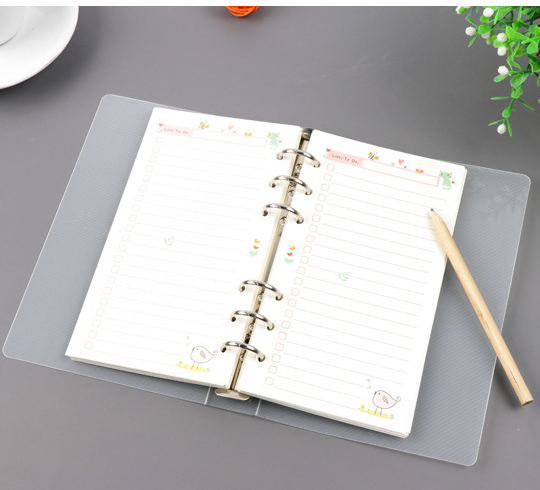 Super Durable Transparent PP Plastic Ring Binder A4/A5/A6/B5 Size File Binder for Business and Office