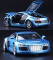 1 32 kids toys AUDI R8 metal toy cars model for children music pull back car
