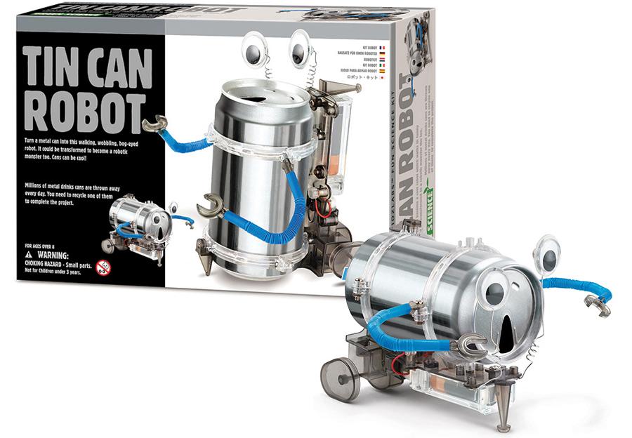 Оловянная банка-робот, экологически чистый набор, обучающая игрушка-робот, обучающие игрушки для детей, обучающие игрушки для детей