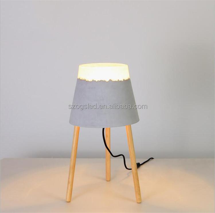 OGS поставщик E27 Освещение цементная стоячая Настольная лампа Декор для гостиничного дома настольное освещение