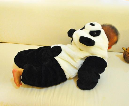 2016 brand recem nascido baby clothing winter thicken newborn baby rompers cartoon panda baby boy clothes jumpsuit 10-24M
