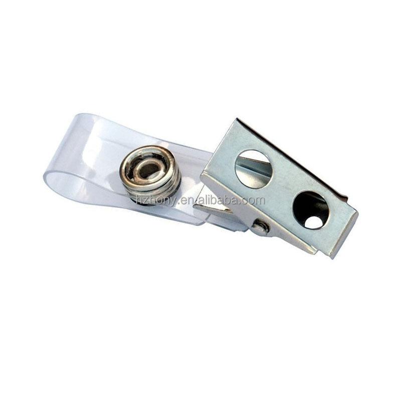 Металлические зажимы для значков с прозрачными ремешками из ПВХ, упаковка 100
