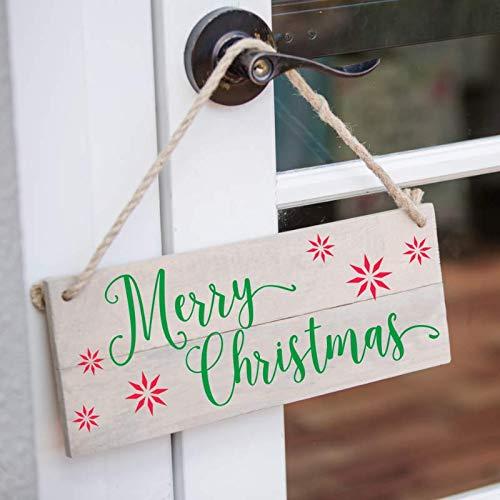 Пластиковые рождественские трафареты на заказ, праздничные трафареты для творчества, Праздничный Рождественский Декор