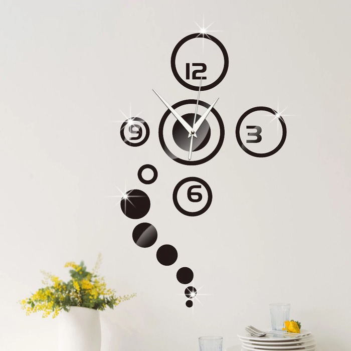 Uchome New Products Acrylic 3d Sticker Wall Stickers Home Decor Mirror Wall Clock Large Still Life Living Room Buy Creative Clcok 3d Wall Clock Decorative Wall Clock Product On Alibaba Com