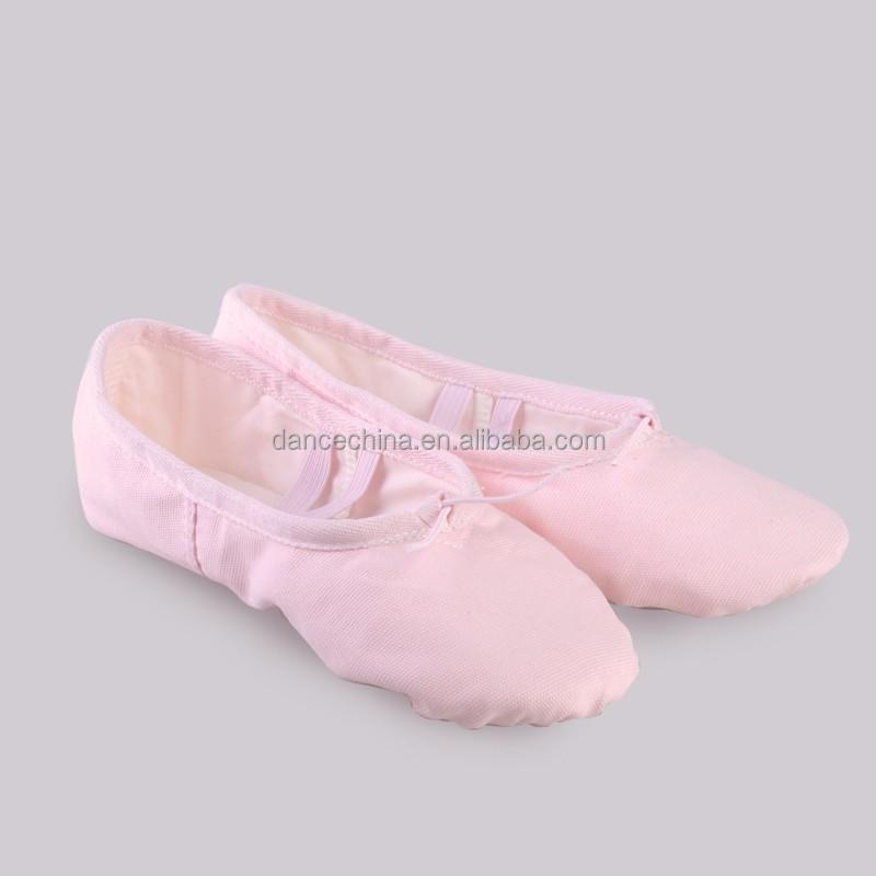 08B5B002 2020 Удобная дешевая балетная обувь для девушек, танцевальные тренировочные мягкие холщовые туфли