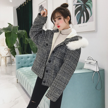 or10778h Korean style ladies winter clothing wool coat for woman short trench coats