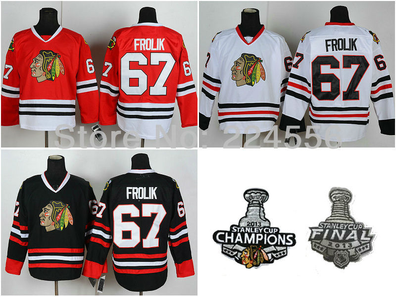 pretty nice 39cfb d1cb9 chicago blackhawks 67 michael frolik 1960 61 red vintage jersey