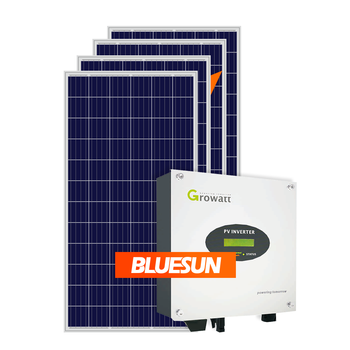 Bluesun Complete 5000w grid tied home solar power system 5kw solar energy system green energy on grid solar generator
