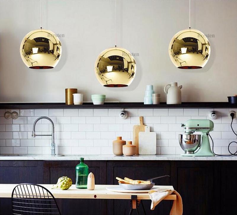 Horstent Nordic Home globe glass pendant lamp silver gold copper color dinning room living room light home decoration lighting (8)