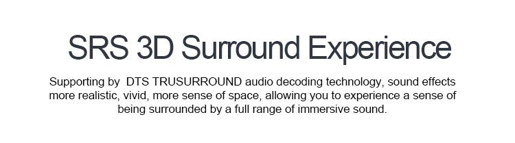 CAV ALS-Set DTS SRS Virtual 5 1 Turesurround Sound Home