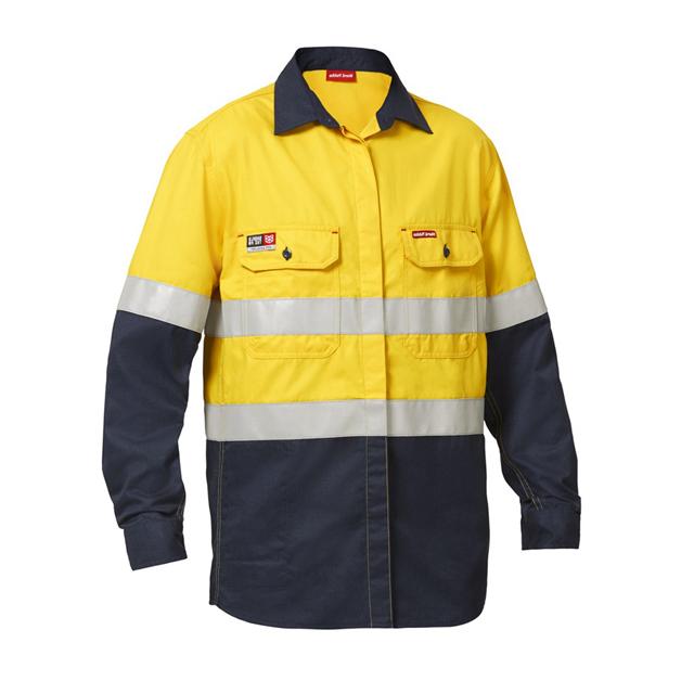 AS/NZS 4602 Day Night High Visibility 100% Cotton FR Anti UV Shirts - KingCare | KingCare.net