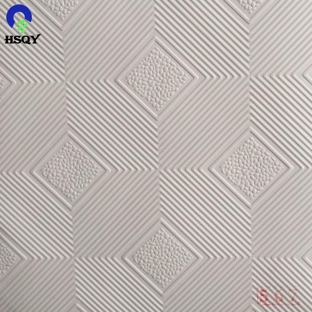 Белая рельефная потолочная пленка из ПВХ для ламинирования гипсокартона