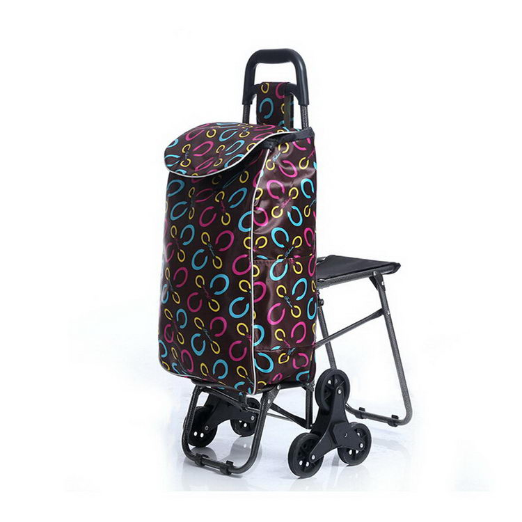 China supplier cheap small wheeled market grocery trolley bag