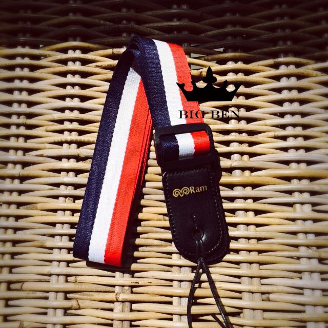 free shipping france flag color guitar strap acoustic guitar multi color straps ukulele and. Black Bedroom Furniture Sets. Home Design Ideas