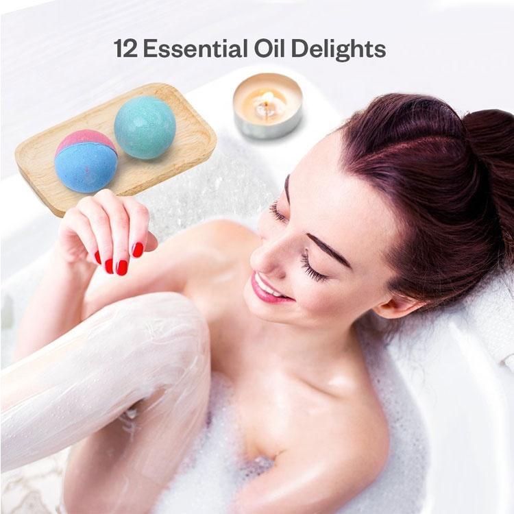 Сушеные лепестки роз, пузырьки и спа-ванны с эфирными маслами для кожи, увлажняющие Детские Бомбочки для ванны, 12 ароматов