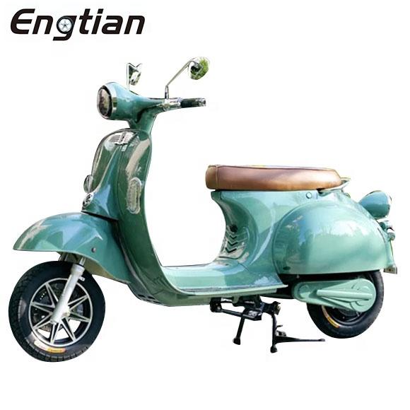 Классический винтажный Ретро-велосипед EEC COC 1000 Вт 2000 Вт Электрический скутер мотоцикл/Электрический vespa со съемной литиевой батареей