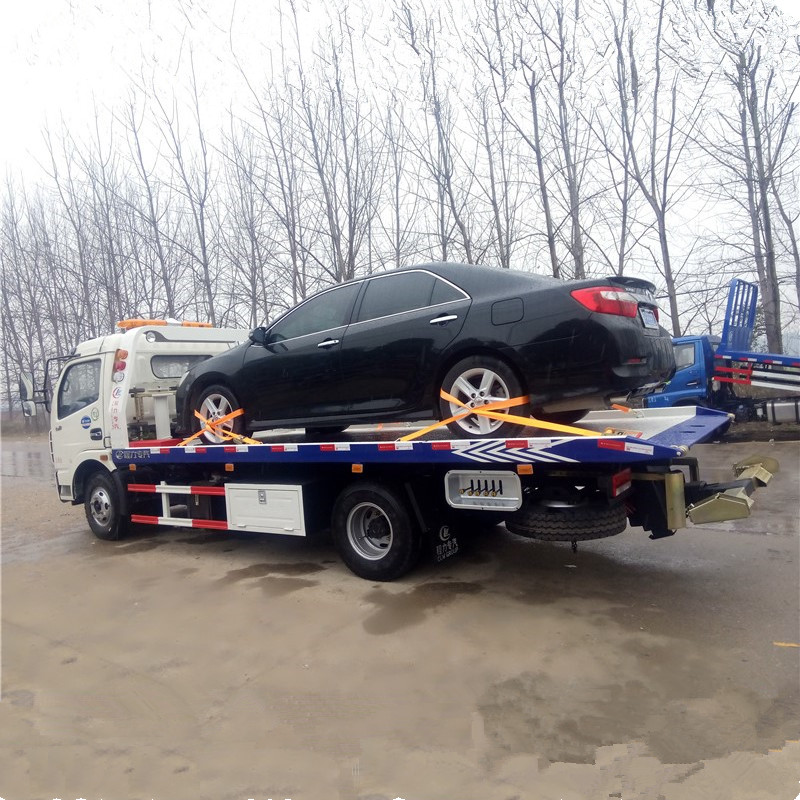 Towing car vehicle capacity 2-6 ton truck flat bed wrecker