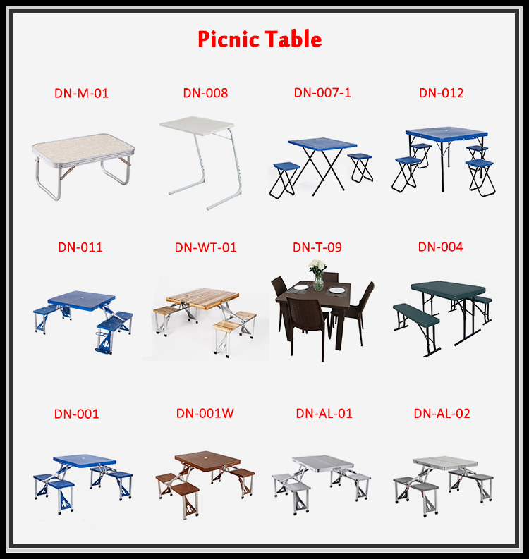 100% Test Factory Price Portable Cheap Plastic Folding Picnic Table And Chairs Set Picnic Table Set