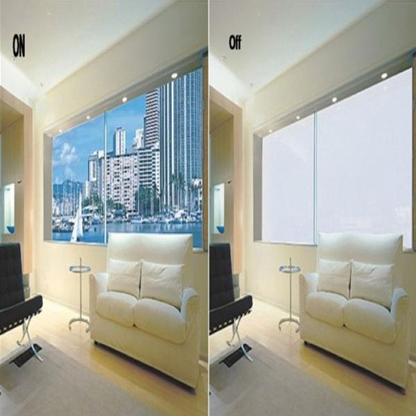 PDLC self adhesive smart film switchable with different color