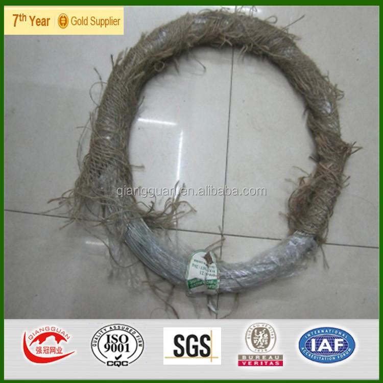 Горячеоцинкованная железная проволока Qiangguan, оцинкованная связующая проволока