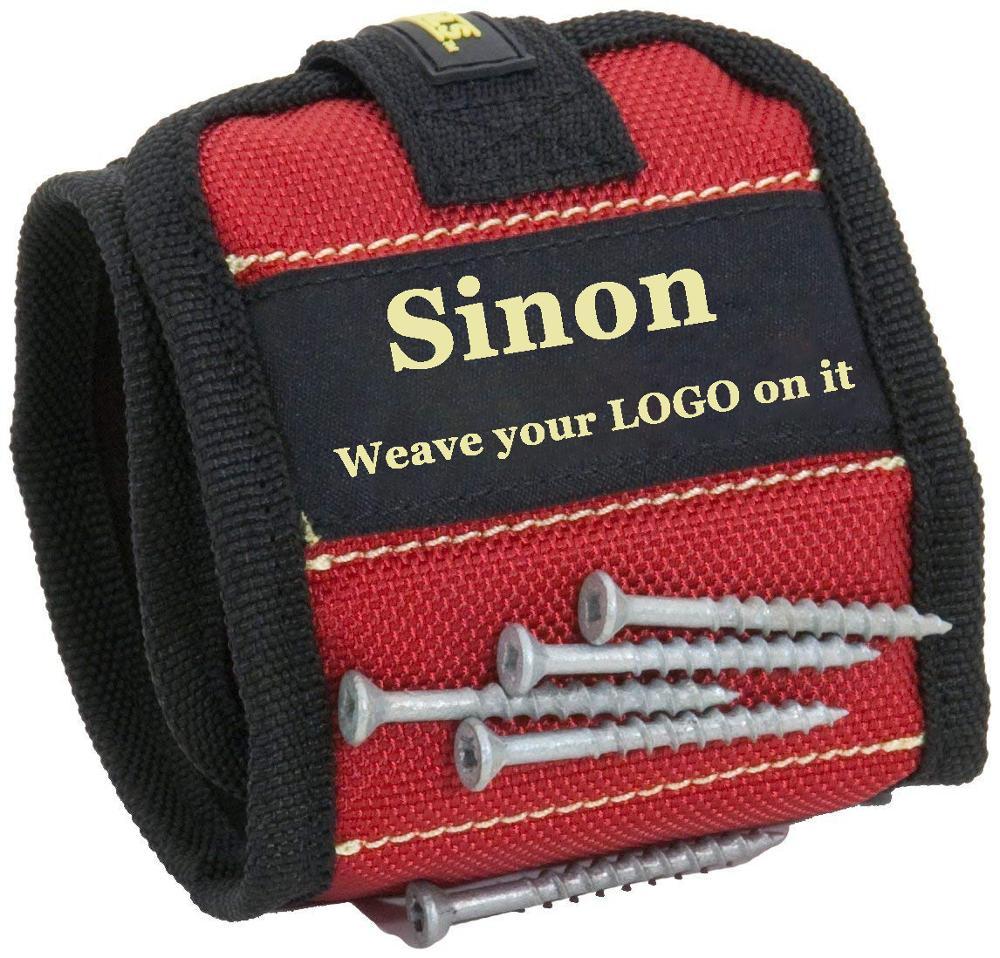 Настраиваемый Логотип, магнитный браслет для инструментов, винтов, гвоздей, регулируемый браслет с сильными магнитами