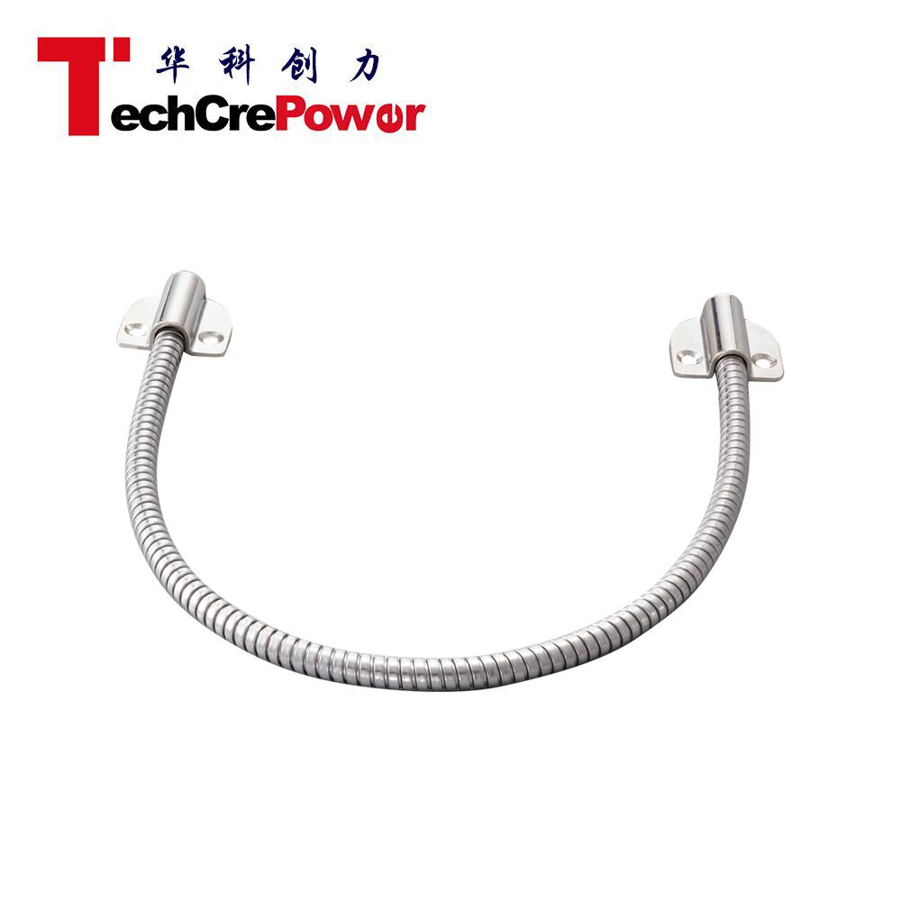 Access control armored stainless steel wire cable door loop for Door and Door frame