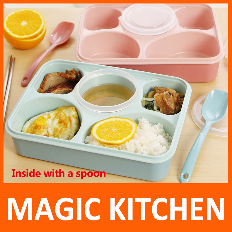A Kitchen Is Launching An Express Lunch Service: Magic Kitchen 5 Plus 1 Sealed Microwaveable Lunch Box With