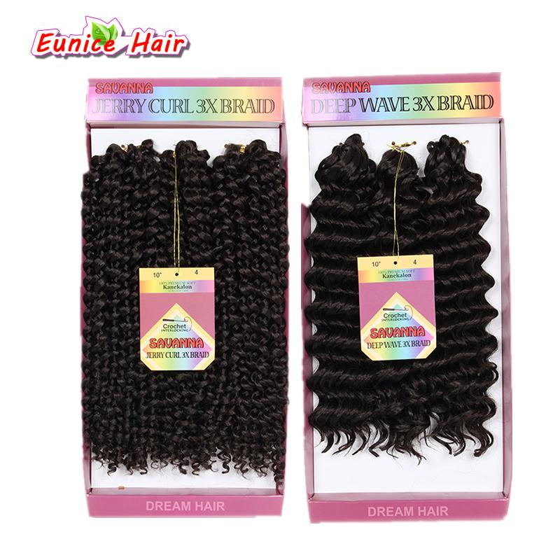 10inch Twist Savana Hair Extensions Jerry Curl Deep Wave