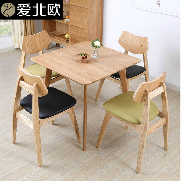 small household dining table solid wood japanese style table square white oak dining table. Black Bedroom Furniture Sets. Home Design Ideas