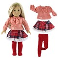 18 inch AMERICAN PRINCESS girl doll clothes strap shirt dress panty hose for doll accessories girls
