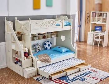children cheap bedroom sets furniture kids double deck bunk bed