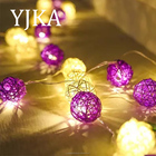 Romantic Led small cane ball Lights for Wedding Decoration and Room Decoration With Battery Powered String Light