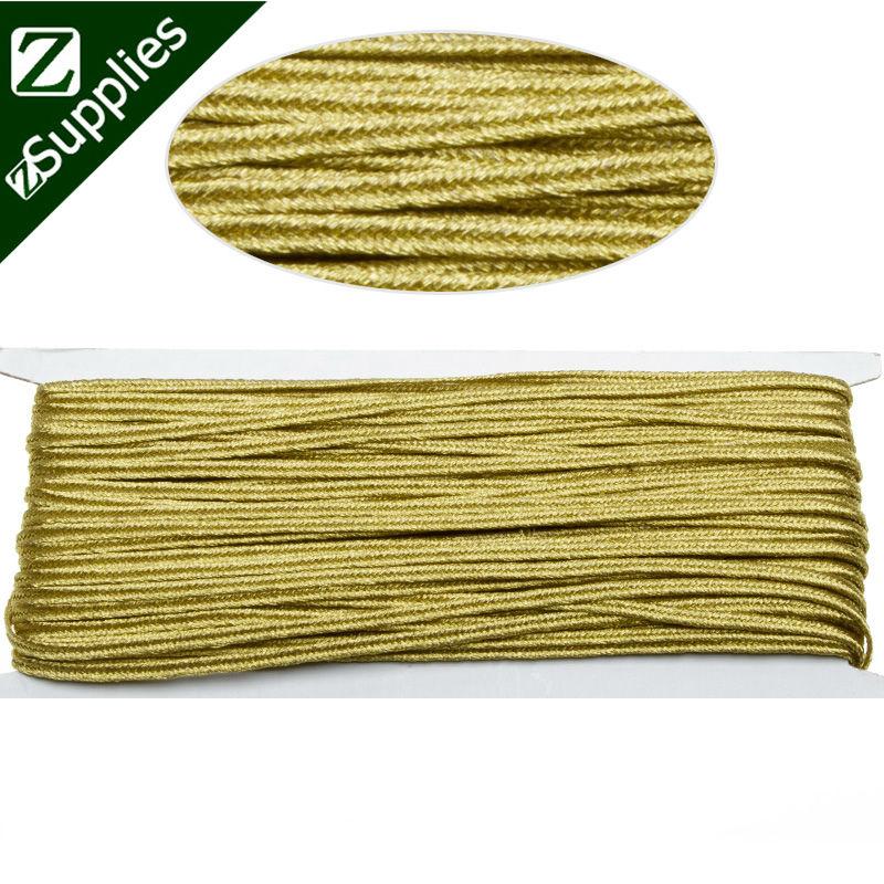 20 м 3.5 мм золото сутаж оплетки для изготовления ювелирных изделий, сутаж Cord-D1484