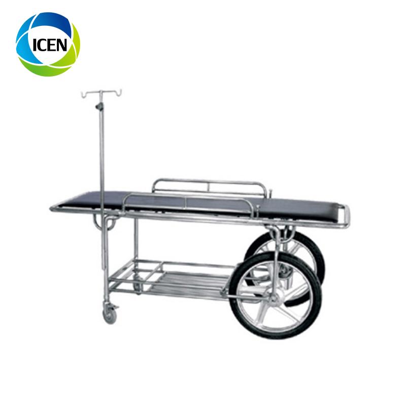 IN-673D Высококачественная тележка для транспортировки пациентов скорой помощи из нержавеющей стали