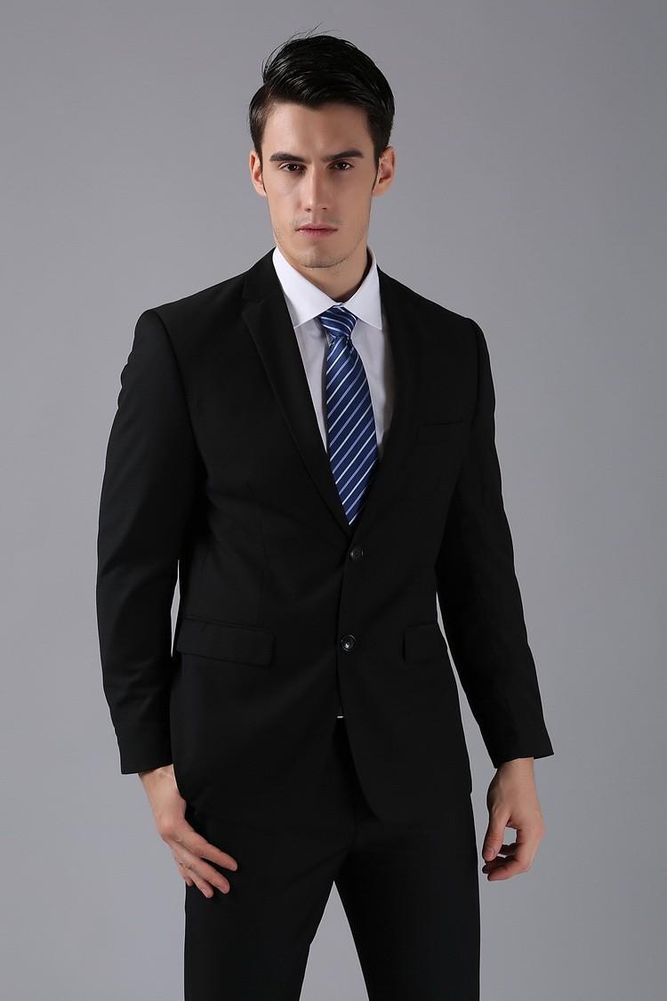(Kurtki + Spodnie) 2016 Nowych Mężczyzna Garnitury Slim Fit Niestandardowe Garnitury Smokingi Marka Moda Bridegroon Biznes Suknia Ślubna Blazer H0285 13