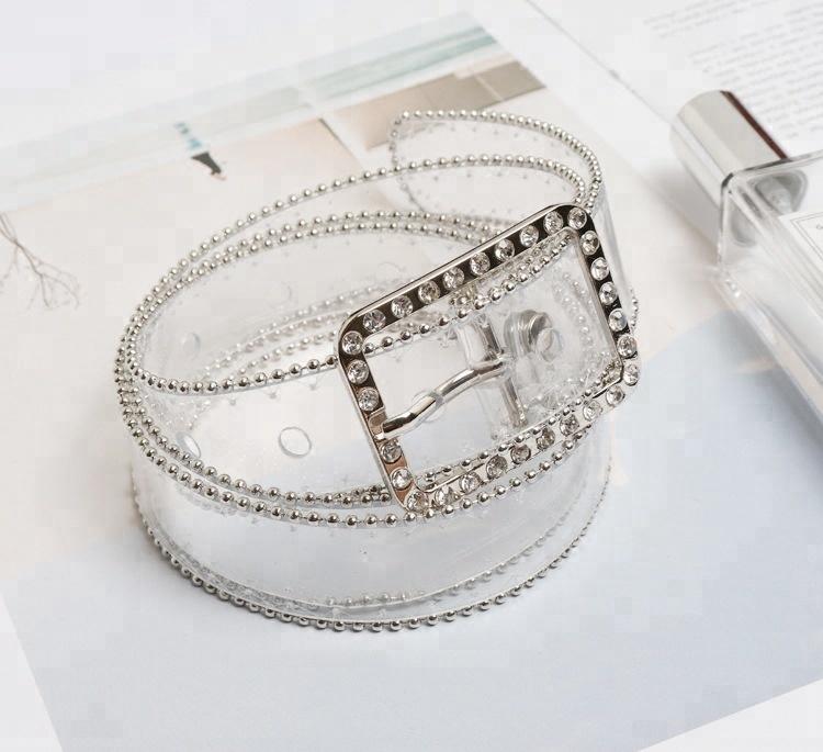 B14123A модной леди пояс для женщин из прозрачного ПВХ ремень