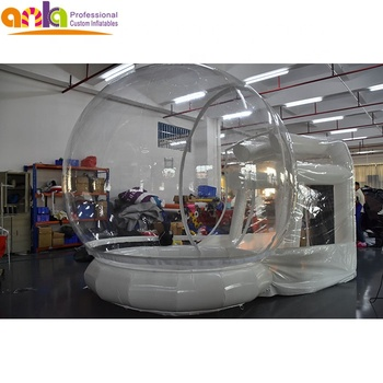 Transparent inflatable dome bubble tent,inflatable snow globe with tunnel