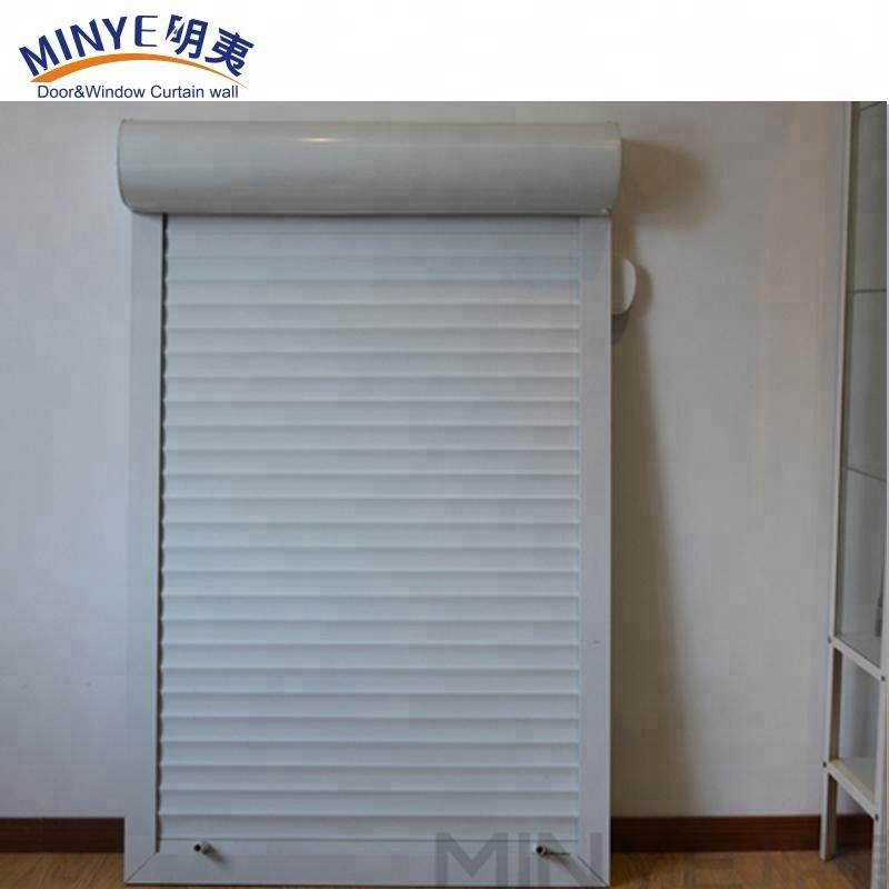 Ручное открытое алюминиевое окно затвора с роликовыми вверх/вращающимися окнами